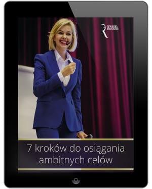 """Bezpłatny ebook Kamili Rowińskiej """"7 kroków do osiągania ambitnych celów"""""""