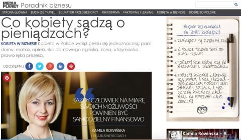 Co kobiety sądzą o pieniądzach? – artykuł Kamili Rowińskiej dla dodatku do Rzeczpospolitej