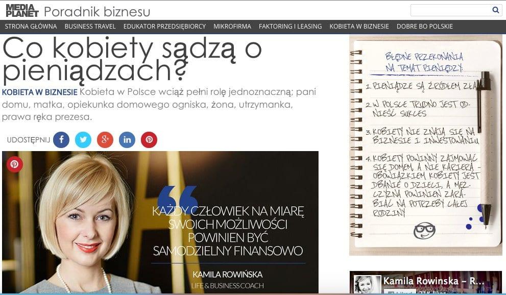 Co kobiety sądzą o pieniądzach? - artykuł Kamili Rowińskiej dla dodatku do Rzeczpospolitej