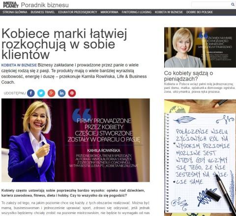 Kobiece marki łatwiej rozkochują w sobie klientów – artykuł Kamili Rowińskiej dla dodatku do Rzeczpospolitej
