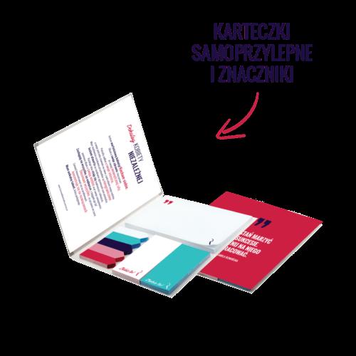 Dziennik Kobiety Niezależnej Pakiet Premium z karteczkami samoprzylepnymi i znacznikami