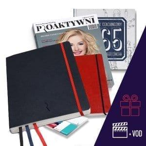 Dziennik Kobiety Niezależnej w kolorze granatowym Pakiet Premium