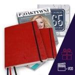 Dziennik Kobiety Niezależnej w kolorze malinowym Pakiet Premium