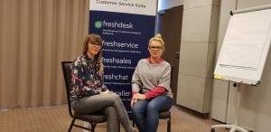 Anna Górka i Katarzyna Szulc na szkoleniu z Freshdeska
