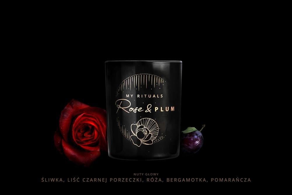 Rose & Plum świeca sojowa